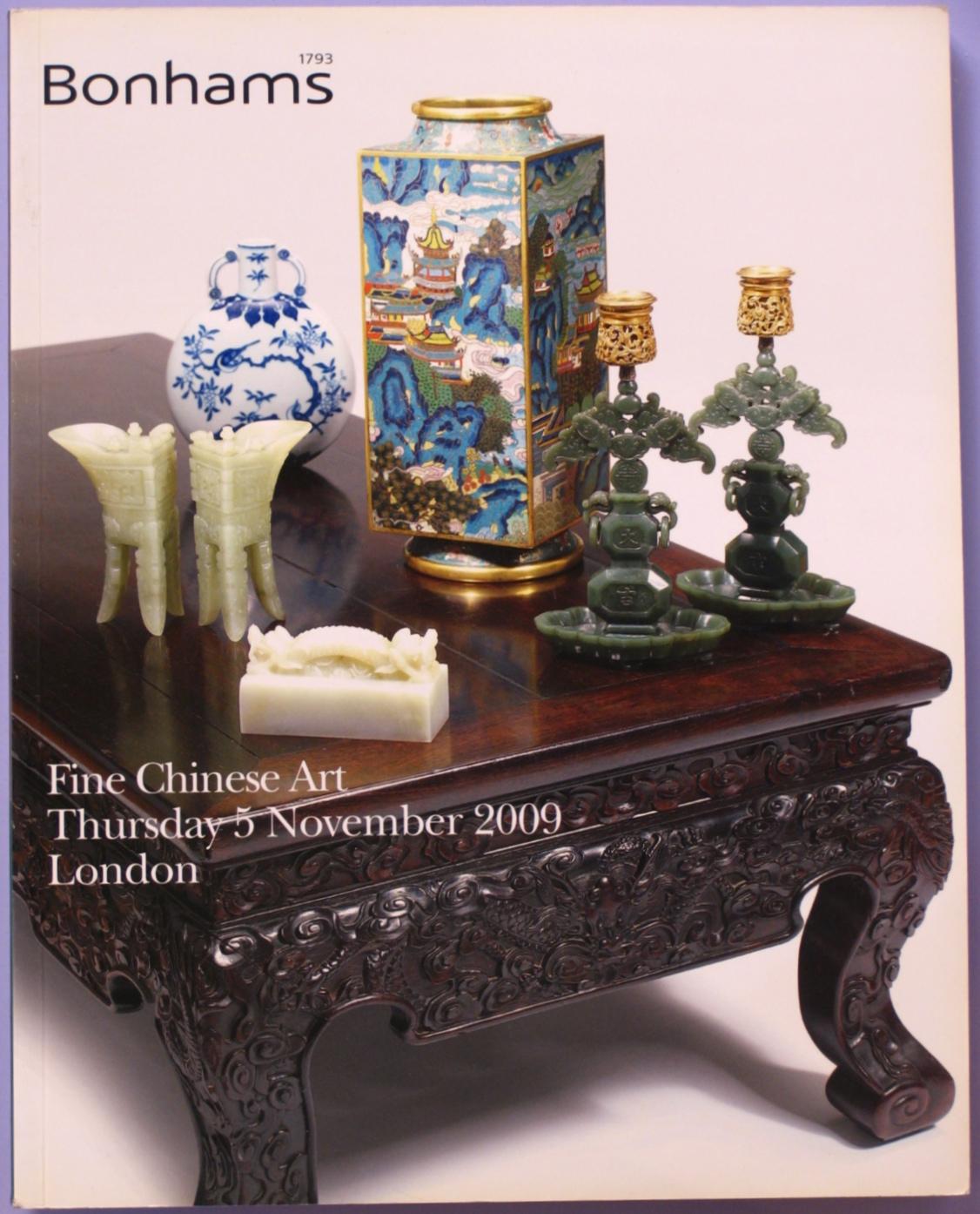 BL20091105: Bookshop: [2009] Bonhams London Fine Chinese Art