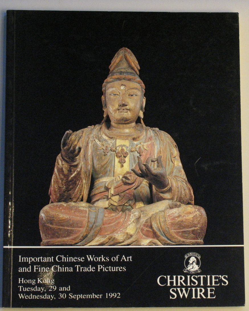 CHK19920930: Bookshop: [1992] CHRISTIES HONG KONG IMPORTANT CHINESE WORKS OF ART AND FINE CHINA TRADE PICTURES