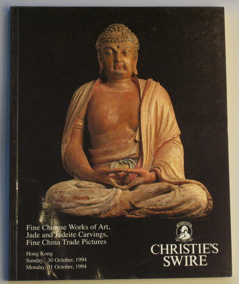 CHK19941030: Bookshop: [1994] Christies Hong Kong Fine Chinese Works of Art, Jade and Jadeite carvings, fine china trade pictures