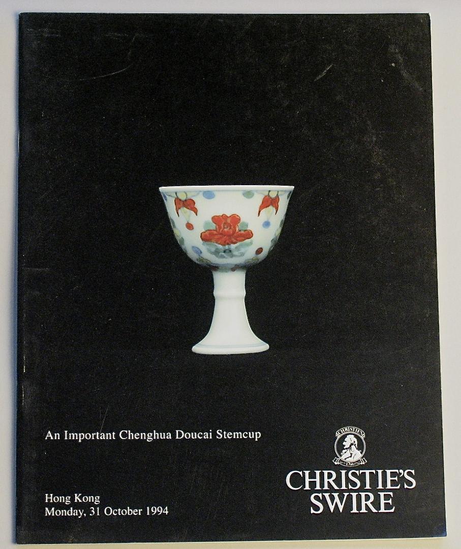 CHK19941032: Bookshop: [1994] Christies Hong Kong An Important Chenghua Doucai Stemcup