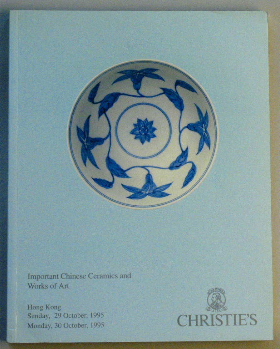 CHK19951029: Bookshop: [1995] Christie's Hong Kong Important Chinese Ceramics and Works of Art