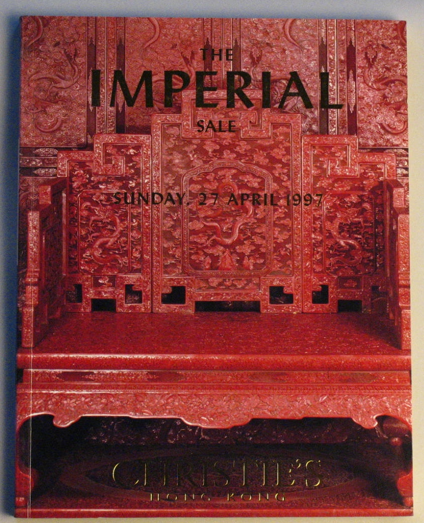 CHK19970427: Bookshop: [1997] Christie's Hong Kong The Imperial Sale