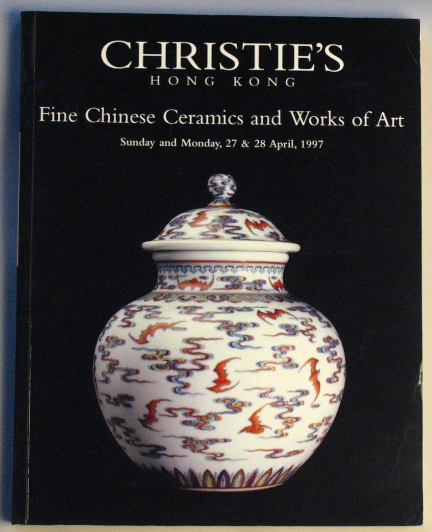 CHK19970428: Bookshop: [1997] Christie's Hong Kong Fine Chinese Ceramics and Works of Art