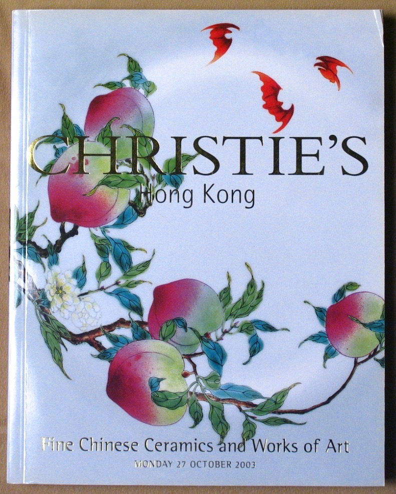 CHK20031027: Bookshop: [2003] Christie's Hong Kong Fine Chinese Ceramics and Works of Art