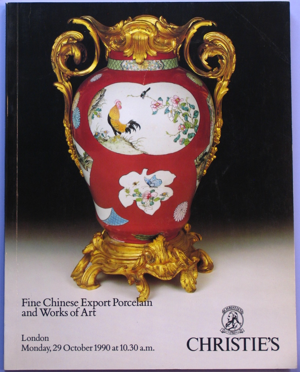 CL19901029: Bookshop: [1990] CHRISTIE'S FINE CHINESE EXPORT PORCELAIN AND WORKS OF ART