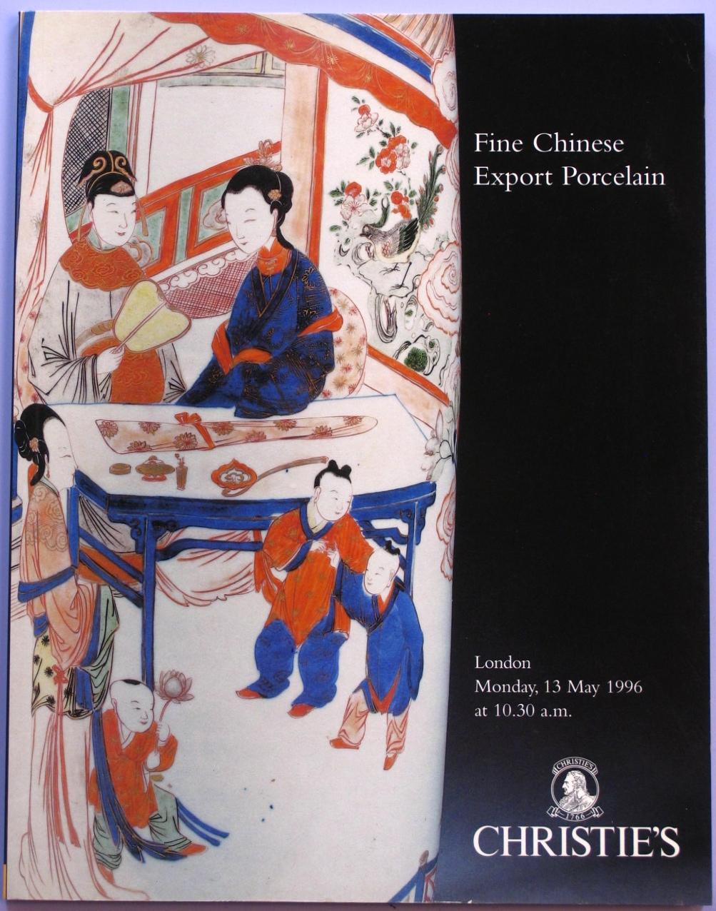 CL19960513: Bookshop: [1996] Christie's Fine Chinese Export Porcelain