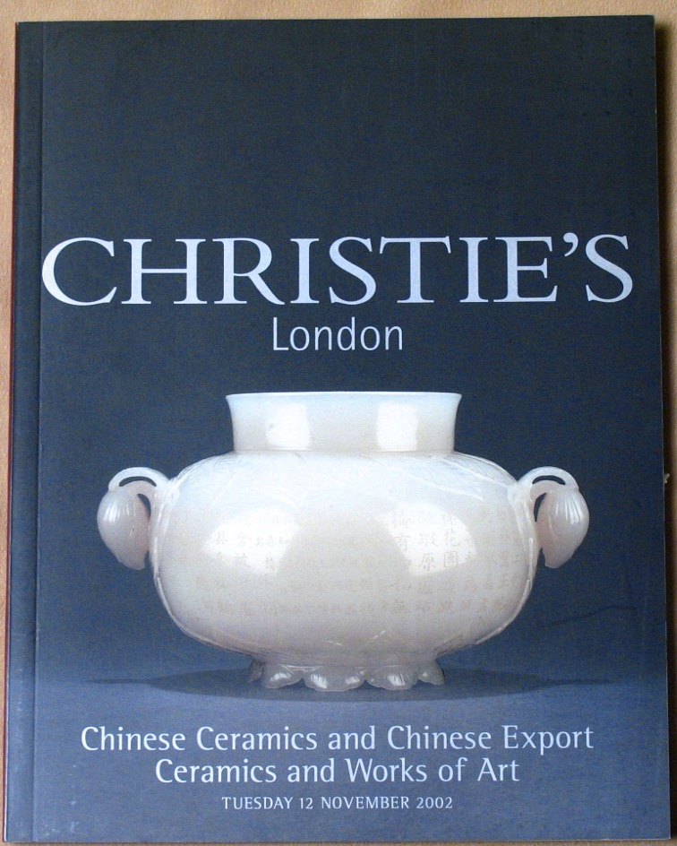 CL20021112: Bookshop: [2002] Christie's London Chinese Ceramics and Chinese Export Ceramics and Works of Art