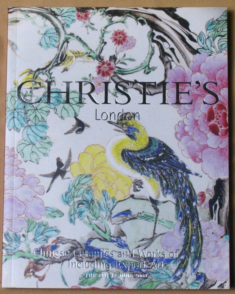 CL20030617: Bookshop: [2003] Christie's London Chinese Ceramics and Works of Art Including Export Art