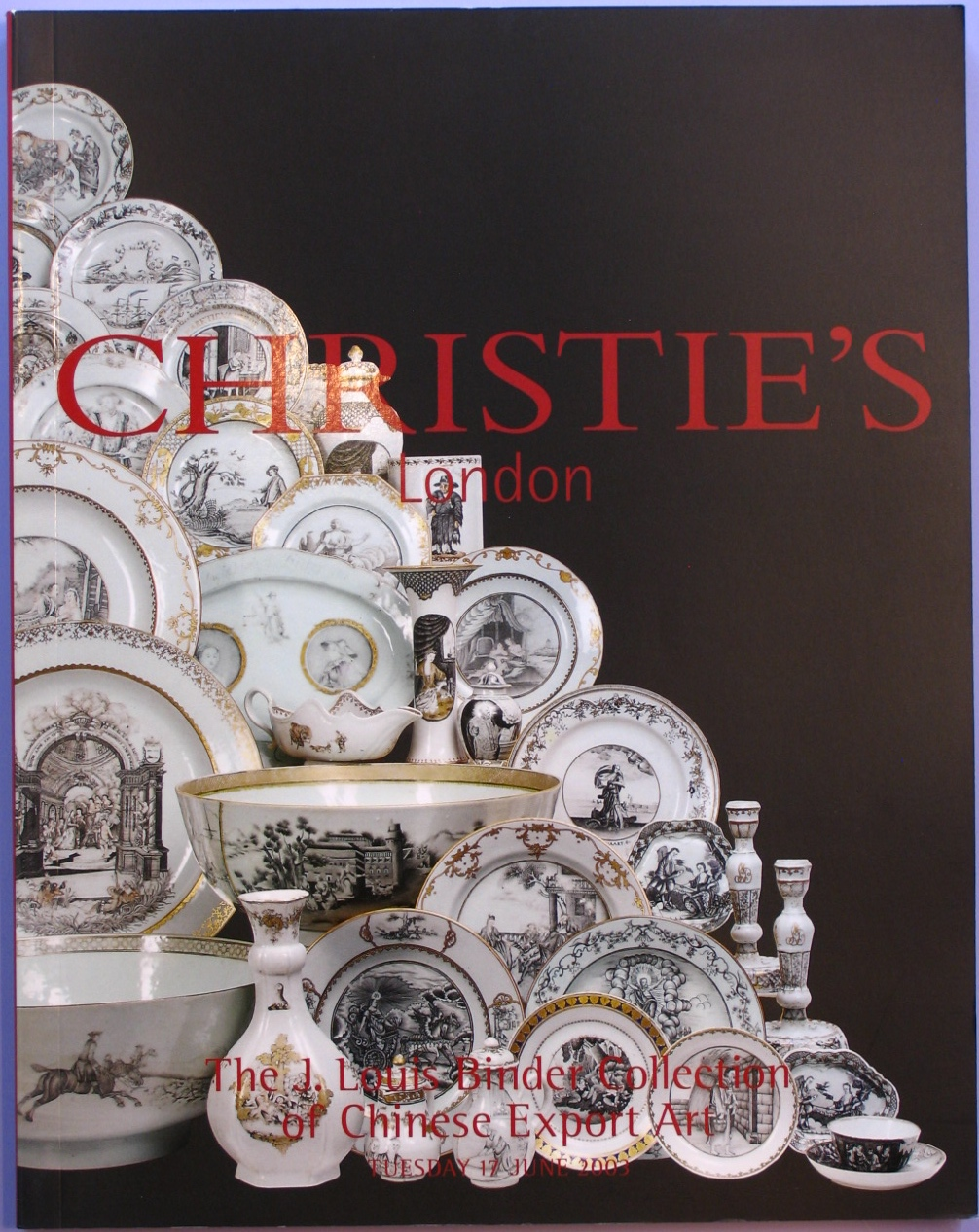 CL20030618: Bookshop: [2003] Christie's The J. Louis Binder Collection of Chinese Export Art