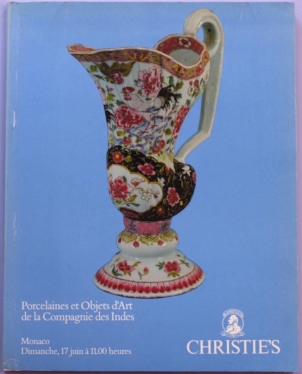CM19900617: Bookshop: [1990] Pocelaines et Objets d'Art de la Compagnie des indes
