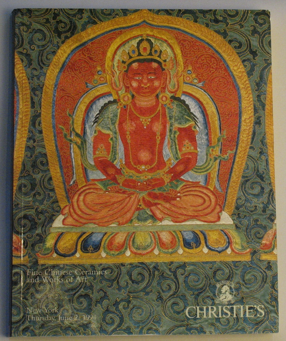 CNY19940602: Bookshop: [1994] Christies New york fine chinese ceramics and Works of Art
