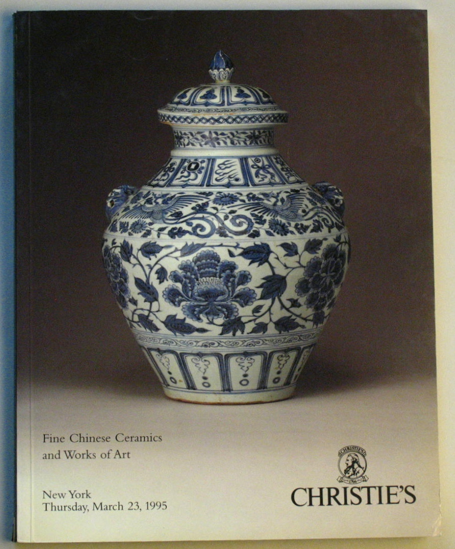 CNY19950323: Bookshop: [1995] Christie's New York Fine Chinese Ceramics and Works of Art
