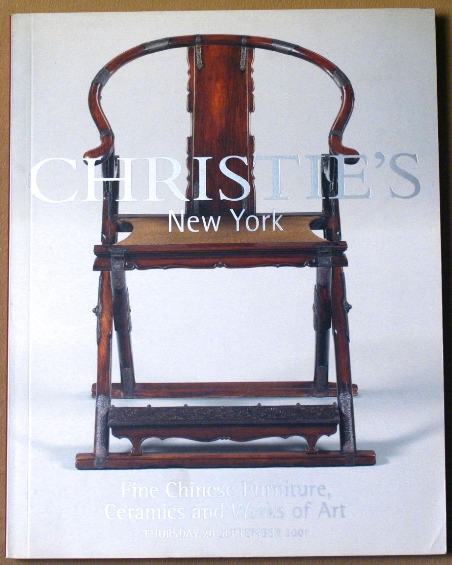 CNY20010919: Bookshop: [2001] Christie's New York Fine Chinese Furniture, Ceramics and Works of Art
