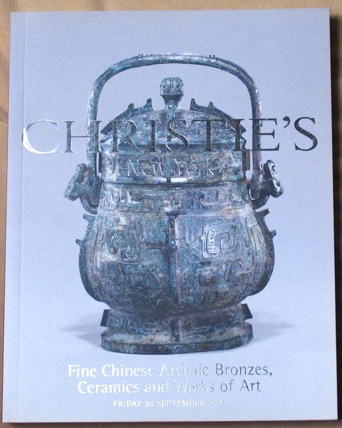 CNY20020920: Bookshop: [2002] Christie's New York Fine Chinese Archaic Bronzes, Ceramics and Works of Art
