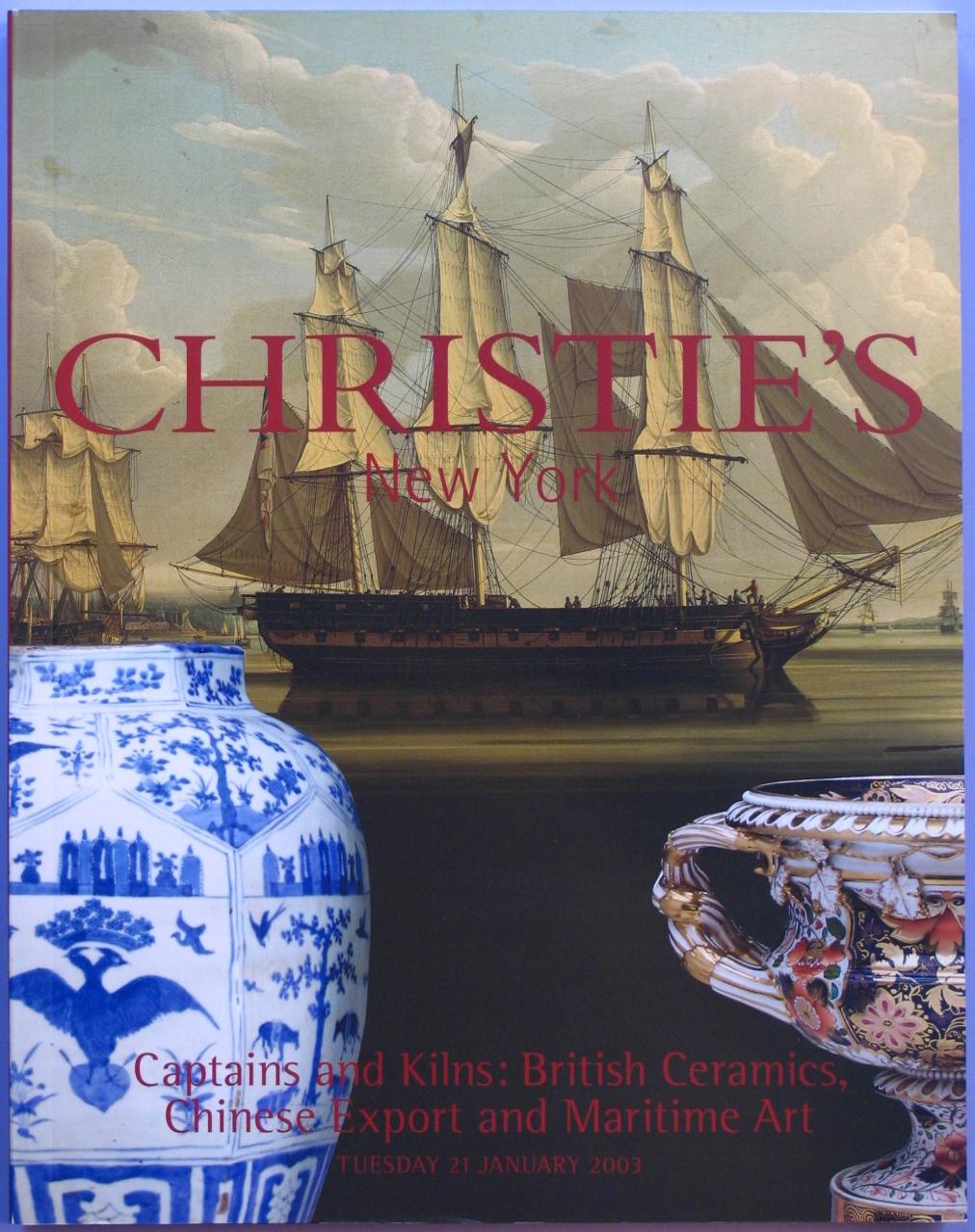 CNY20030121: Bookshop: [2003] Christie's Captains and Kilns