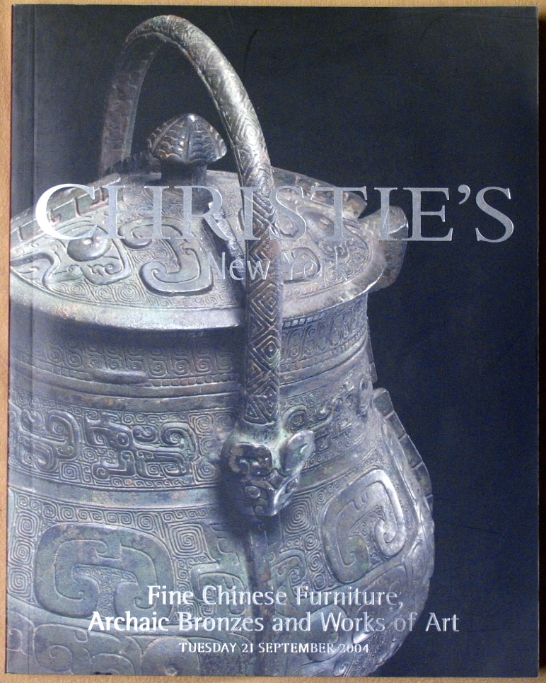 CNY20040921: Bookshop: [2004] Christie's New York Fine Chinese Furniture, Archaic Bronzes and Works of Art