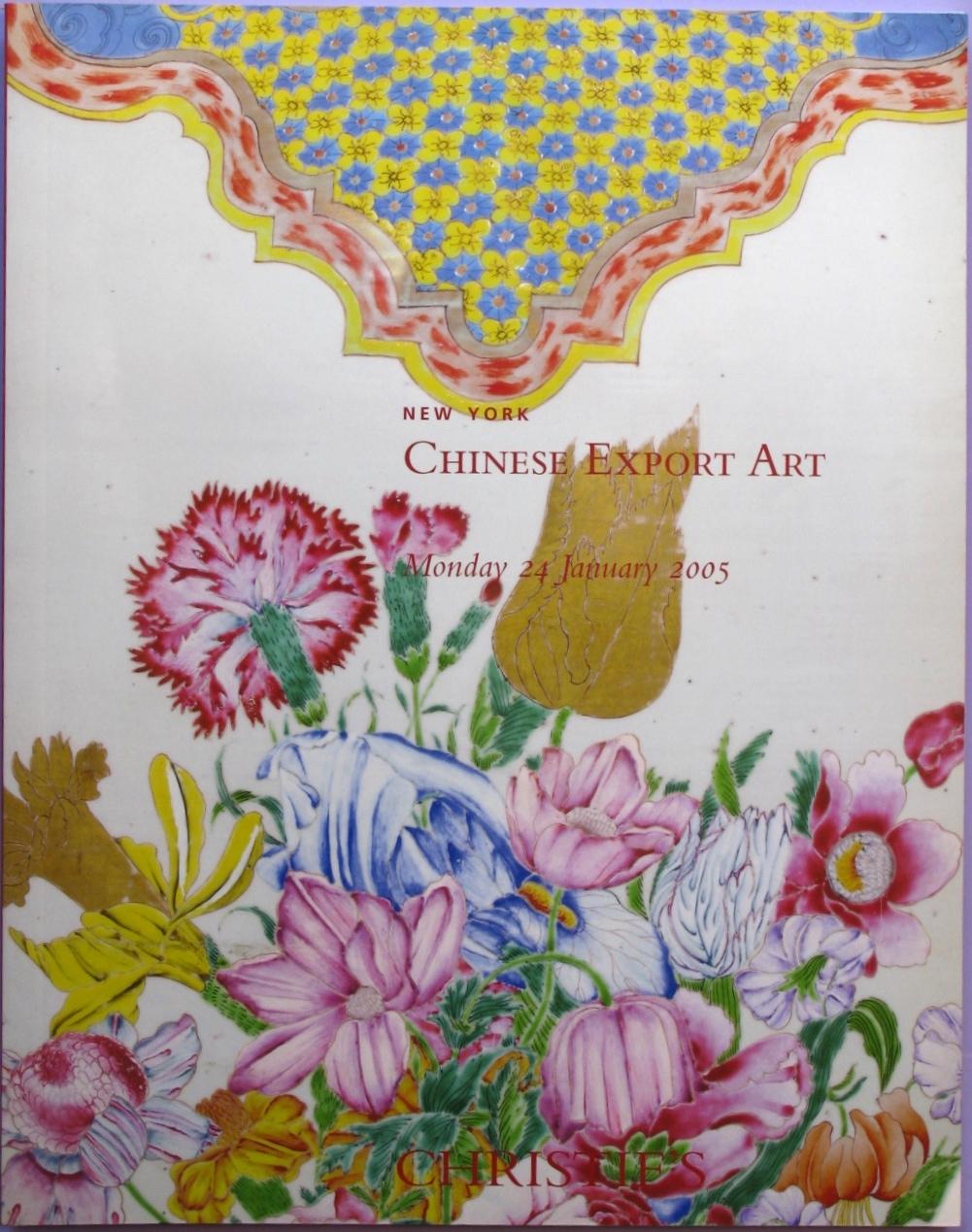 CNY20050124: Bookshop: [2005] Christie's New York Chinese Export Art