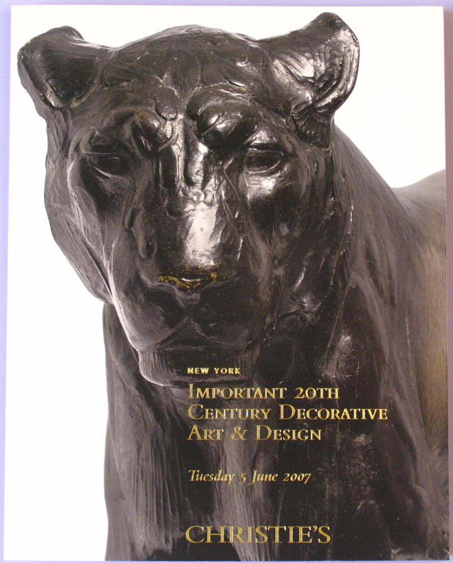 CNY20070605: Bookshop: [2007] Important 20th Century Decorative Art & Design