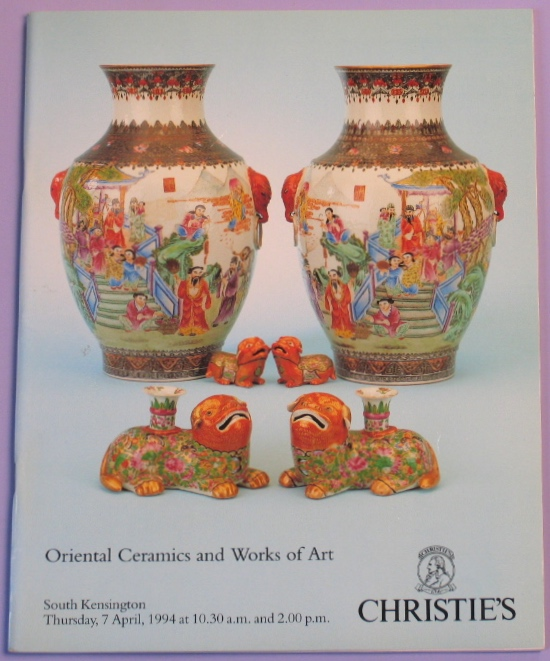 CSK19940407: Bookshop: [1994] Oriental Ceramics and Works of Art