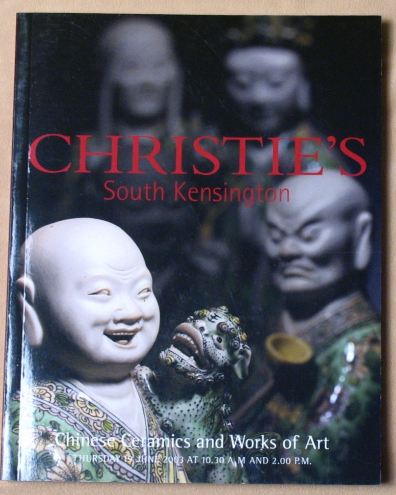 CSK20030619: Bookshop: [2003] Christie's South Kensington Chinese Ceramics and Works of Art