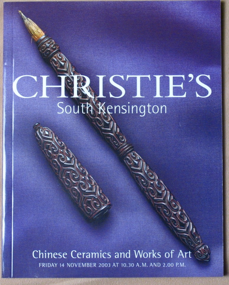 CSK20031114: Bookshop: [2003] Christie's South Kensington Chinese Ceramics and Works of Art