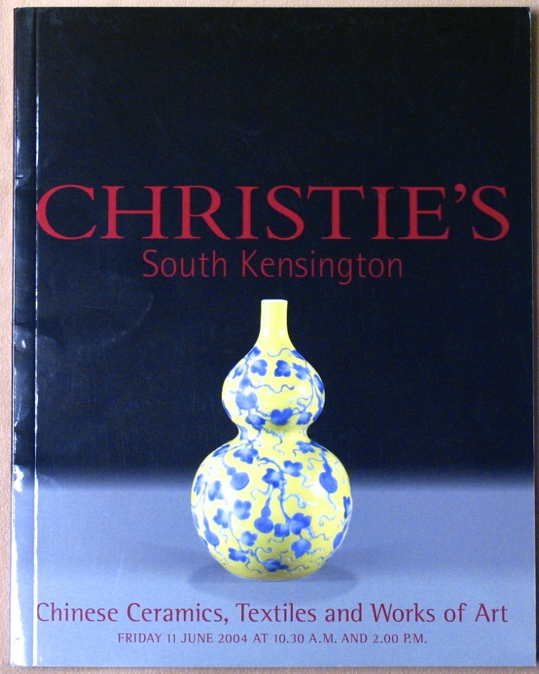 CSK20040611: Bookshop: [2004] Christie's South Kensington Chinese Ceramics, Textiles and Works of Art