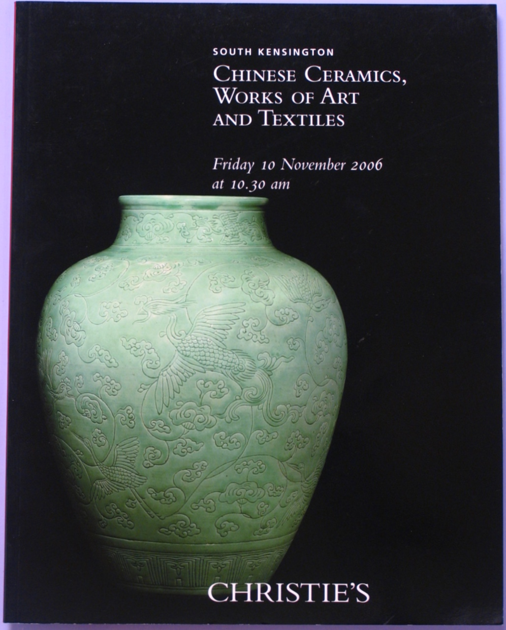 CSK20061110: Bookshop: [2006] Christie's South Kensington Chinese Ceramics. Works of Art and Textiles