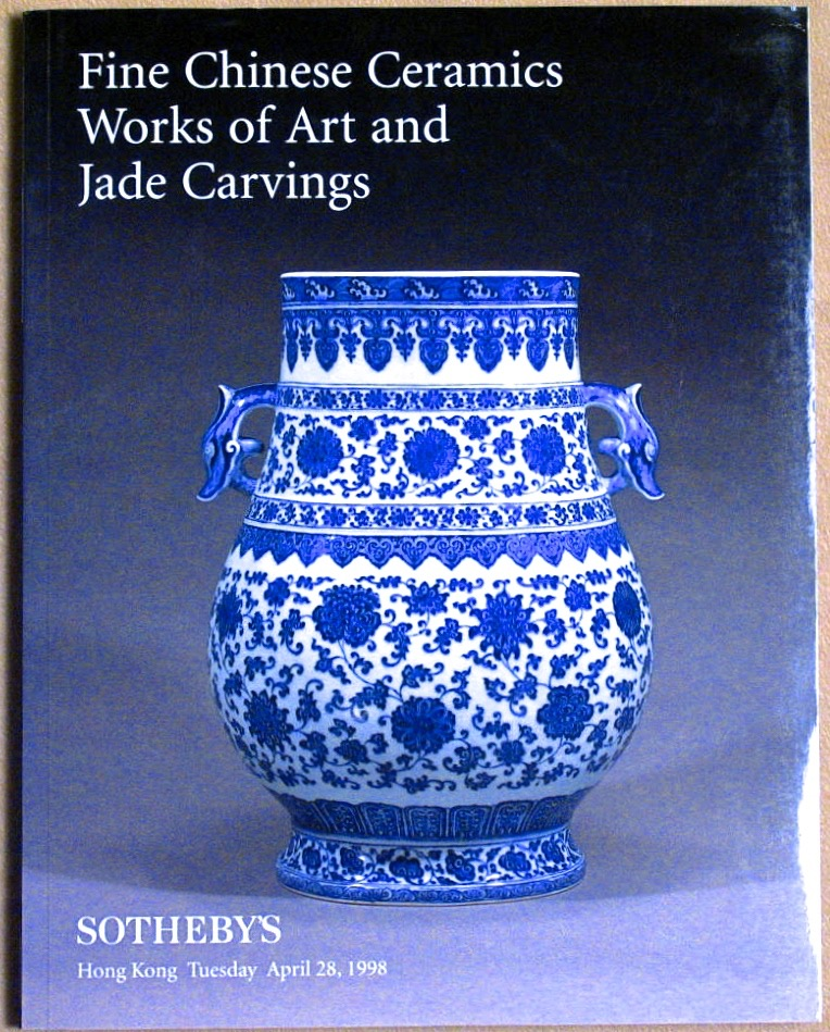 SHK19980428: Bookshop: [1998] Sotheby's Fine Chinese Ceramics Works of Art and Jade Carvings
