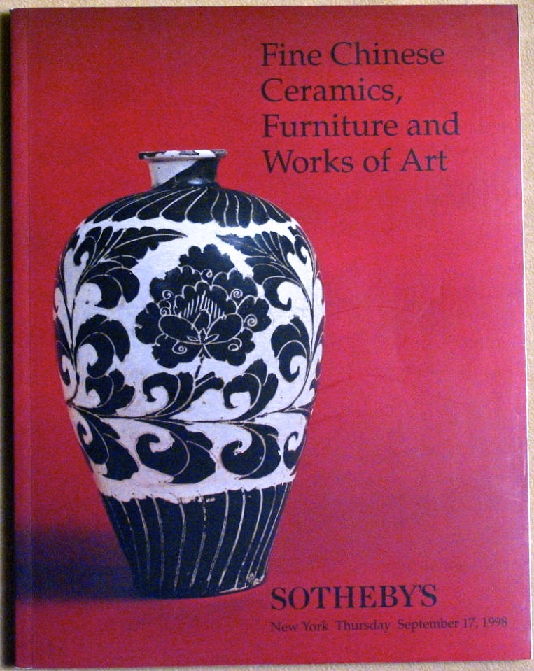 SNY19980917: Bookshop: [1998] Sotheby's Fine Chinese Ceramics, Furniture and Works of Art