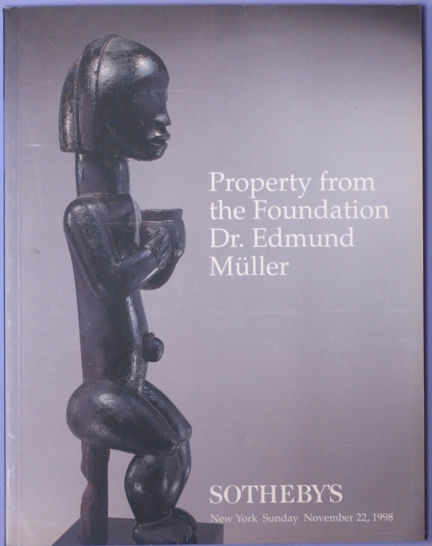 SNY19981122: Bookshop: [1998] Property from the Foundation Dr. Edmund Muller, Beromunster, African and Oceanic Art