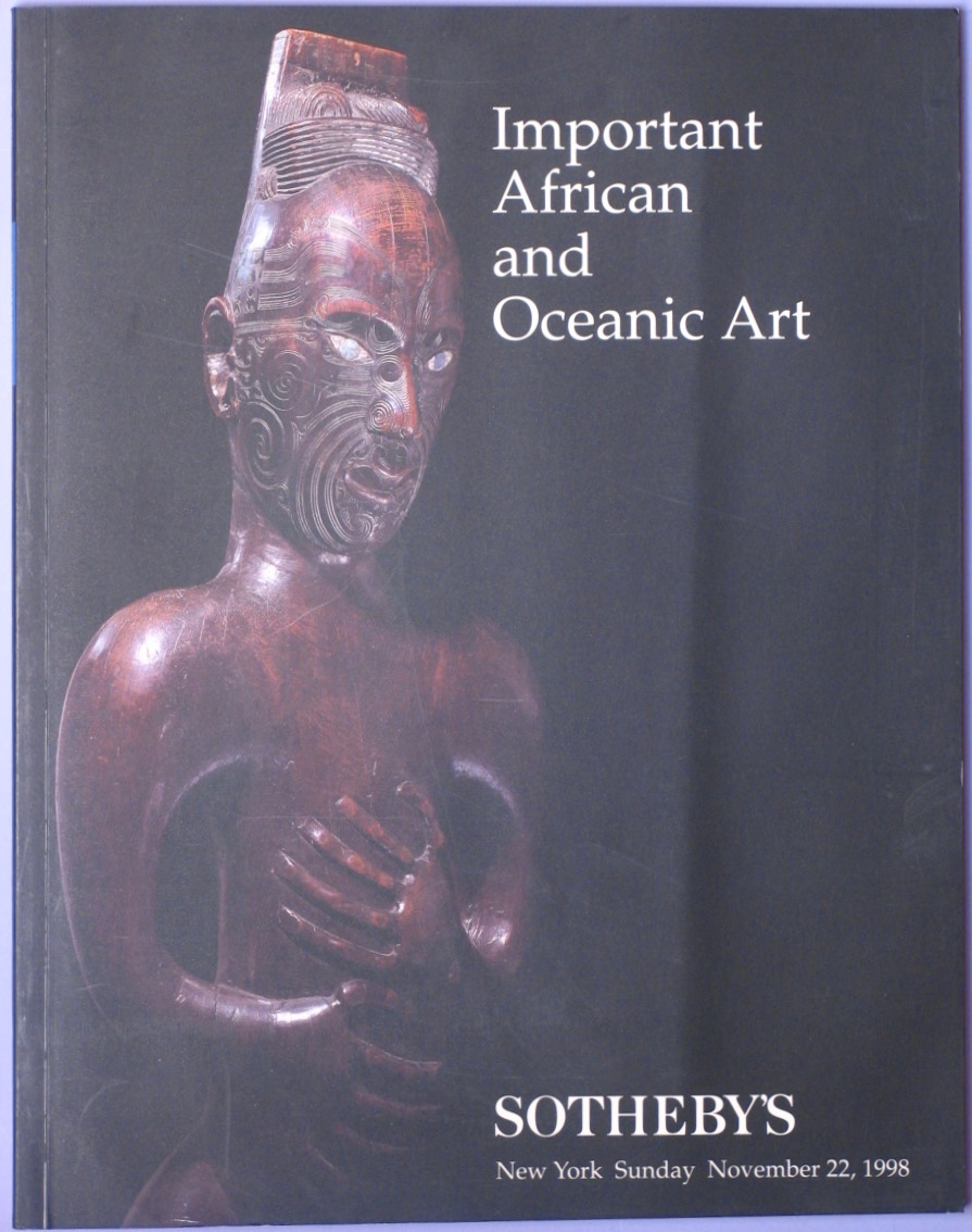 SNY19981123: Bookshop: [1998] Important African and Oceanic Ar