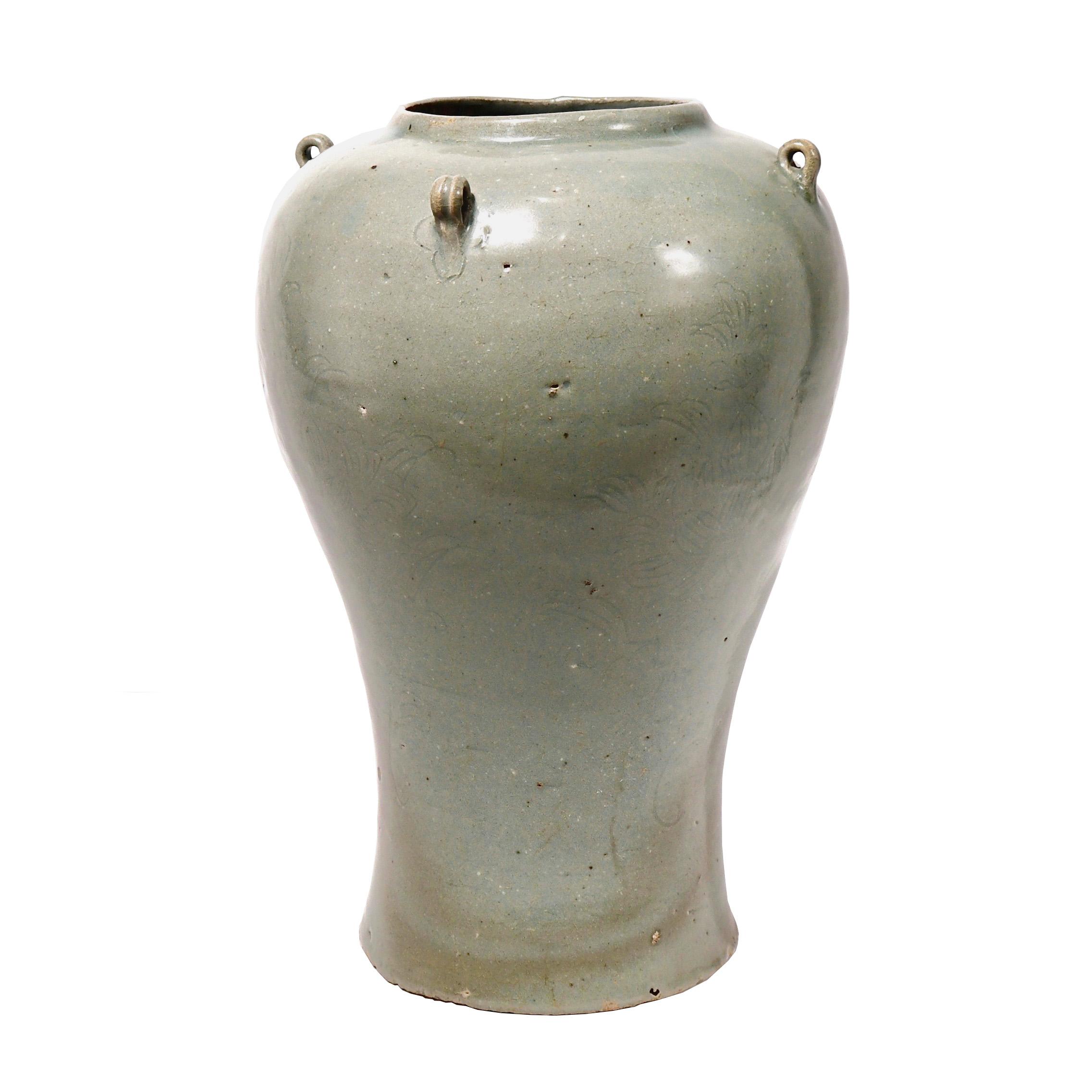 KG70002: Koryo Celadon Baluster Jar