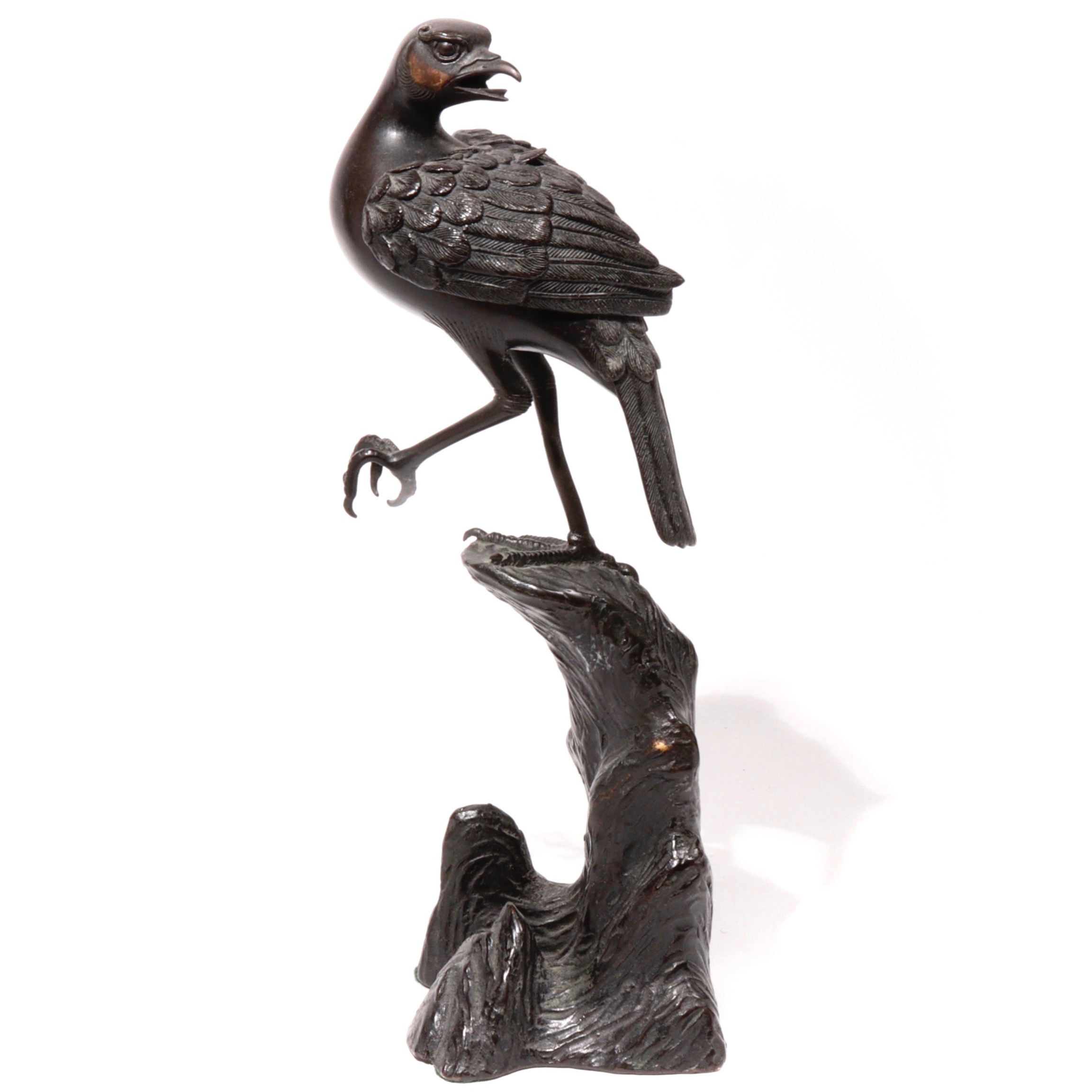 NG81017: Bronze Bird Incense Burner