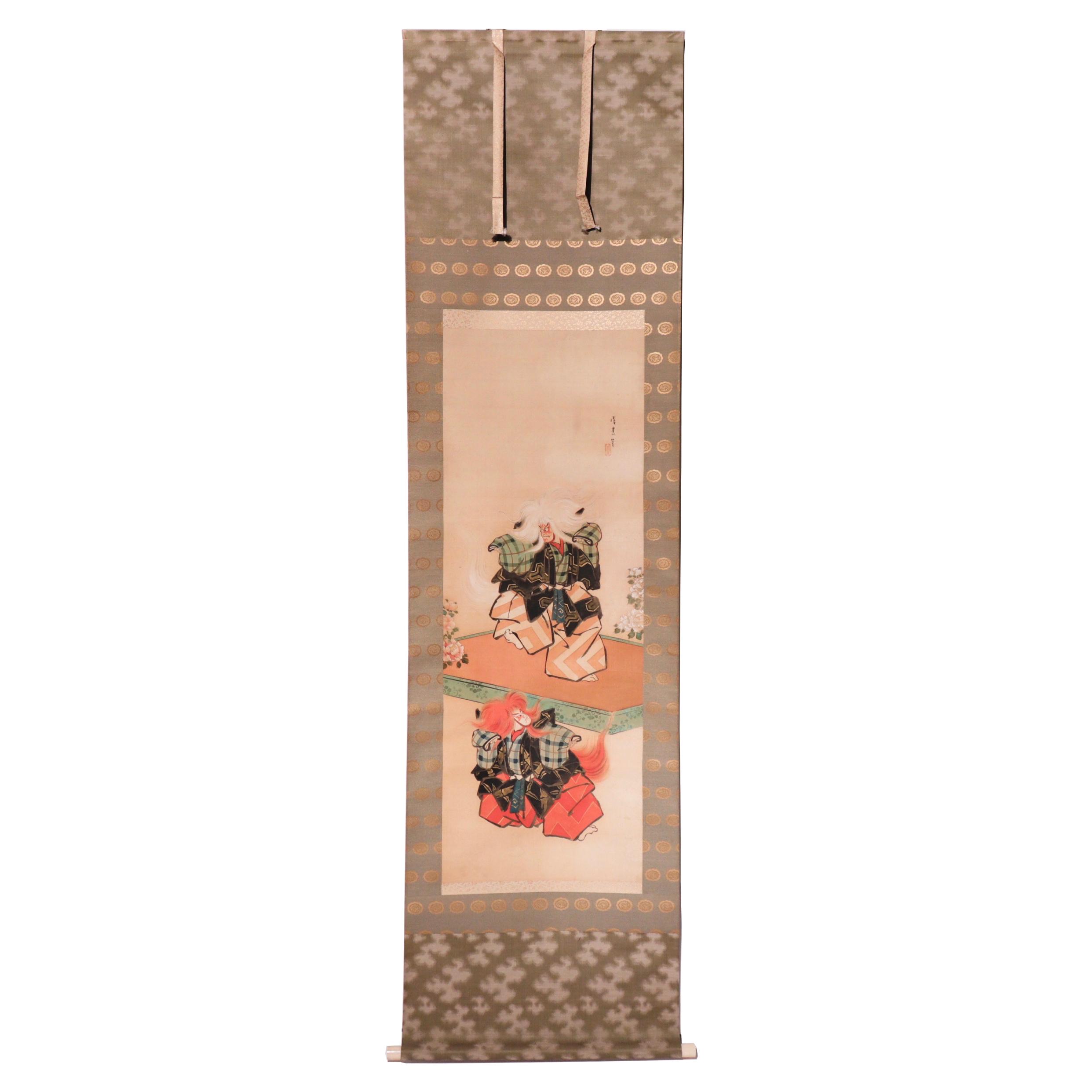 NH10012: Kabuki Ningyo Scroll, Torii Kiyotada