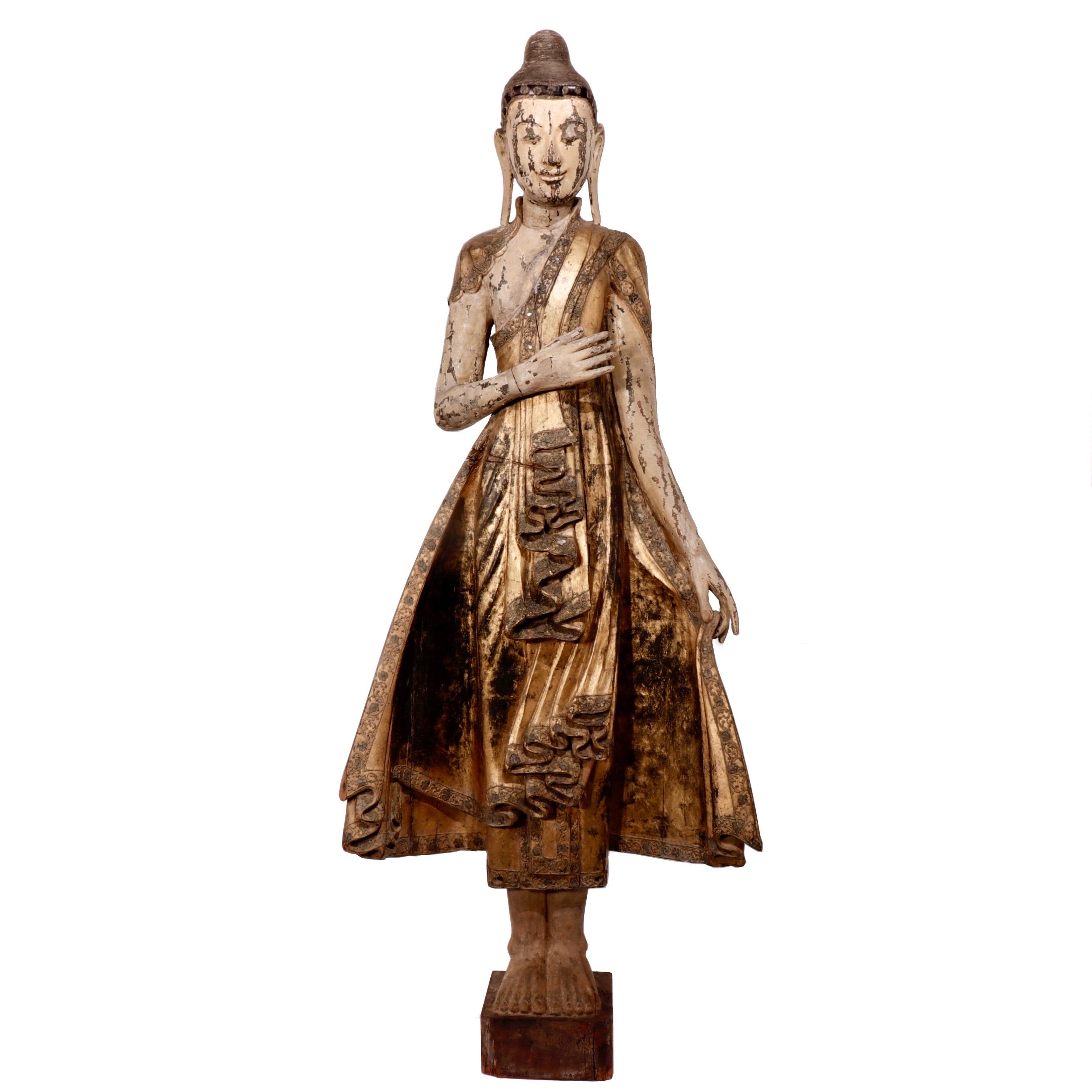 UH10051: Standing Mandalay Buddha Sculpture