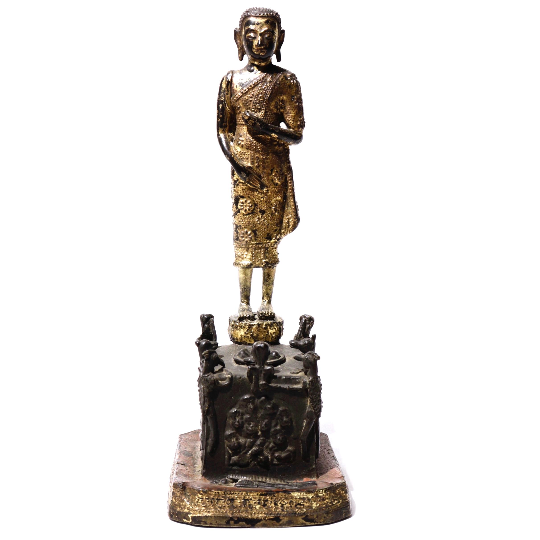 UH80029: Phra Malai Bronze Sculpture
