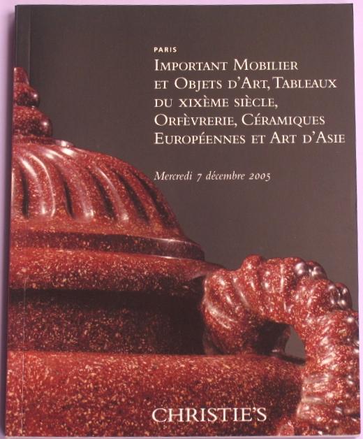 CP20051207: Bookshop: [2005] Important Mobilier