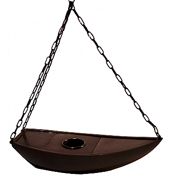 NG91011: Hanging Bronze Boat Flower Container