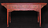 UH10022: red lacquer painting table