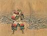 Antique Japanese Painting of Nitta Yoshisada