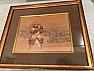 Antique Japanese Painting framed of Yoshisada