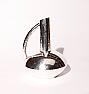 Modern Japanese Hammered Silver Ewer Vase, Seiho
