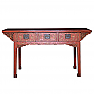 Chinese red lacquered painting table
