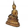 UH80090 Thai Gilt Bronze Seated Earth Touching Buddha