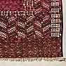 """RD0009 Antique Turkmen Tekke """"Princess Bokhara"""" Hatchli Prayer Rug / Door Hanging (Ensi), Afghanistan."""