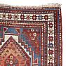 RD0059 Antique Caucasian Kazak Rug, Russian Empire