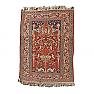 RD0071 Antique Silk Tabriz Prayer Rug, Northwest Persia