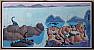 LUIS CHAN Chen Fushan WATERCOLOR Fantasy Islands 1972