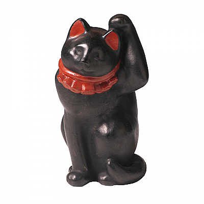CT60004: Black Clay Maneki Neko