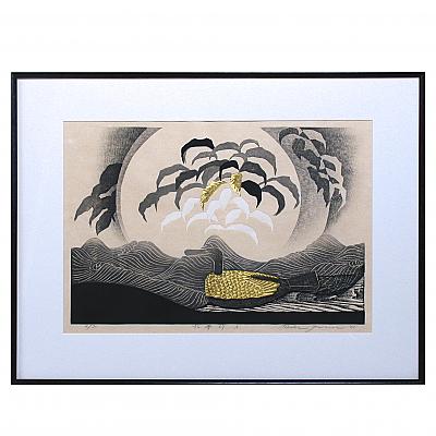 CY93301: Woodblock Print by Reika Iwami, Water Fantasy A